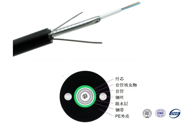 常熟GYXTW中心束管式金属铠装光缆1-24芯